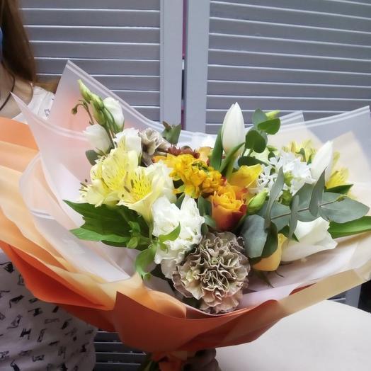 Оранжевое солнце: букеты цветов на заказ Flowwow