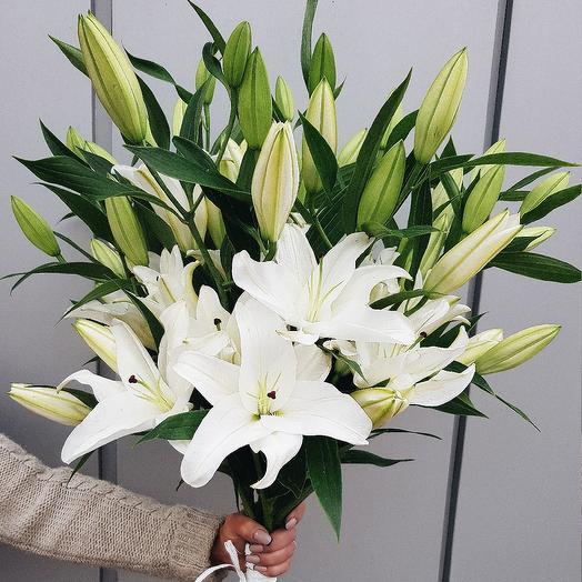 Лилия 9шт: букеты цветов на заказ Flowwow