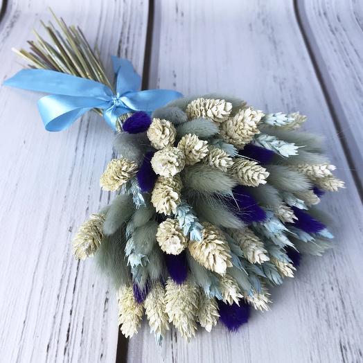 Букет из сухоцветов «Синева»: букеты цветов на заказ Flowwow
