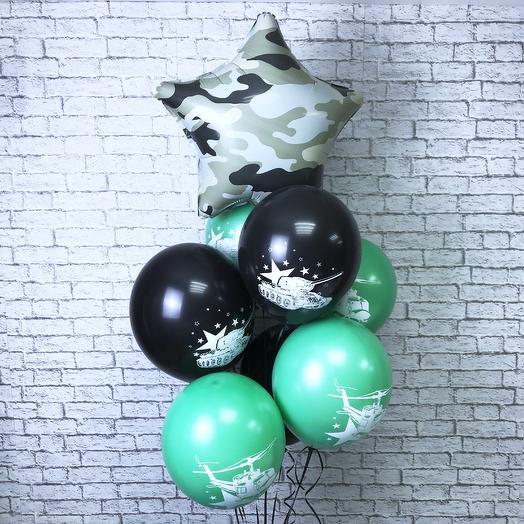 Воздушные шарики для настоящих мужчин: букеты цветов на заказ Flowwow