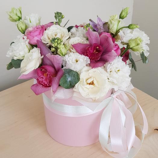 """Букет """"Клубничный пломбир"""": букеты цветов на заказ Flowwow"""