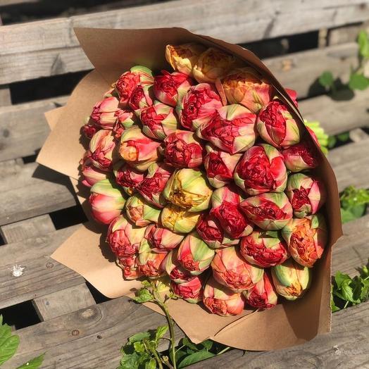 Пионовидные тюльпан: букеты цветов на заказ Flowwow