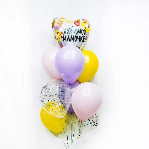 Set of helium balloons