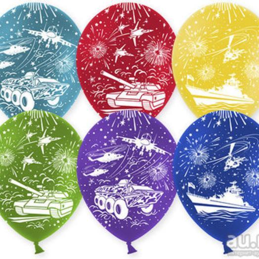 Воздушный шар 12 дюймов с рисунком ( детский для мальчика ) цвета микс