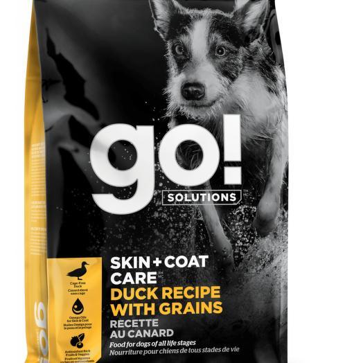 GO! беззерновой корм для щенков и собак с цельной уткой и овсянкой 5,44 кг