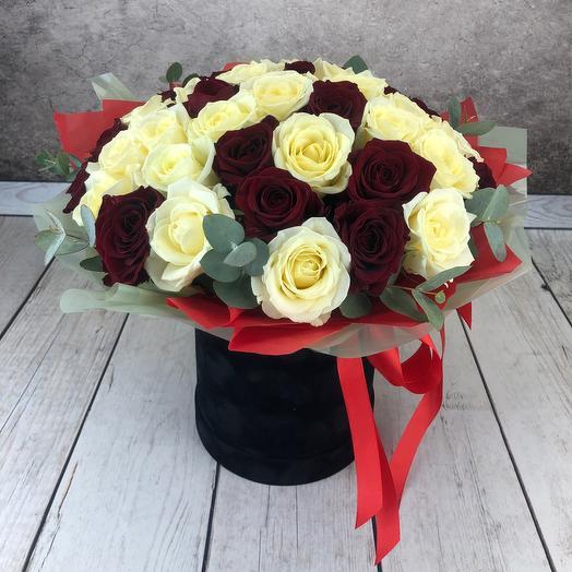 Коробка -ваза с 43 розами