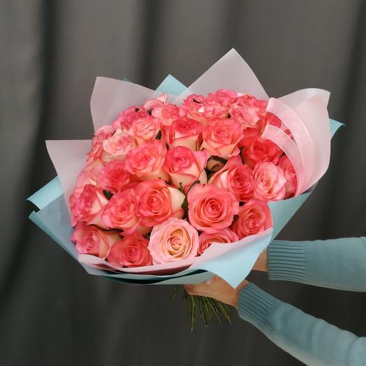 """Букет""""35 розовых роз"""""""