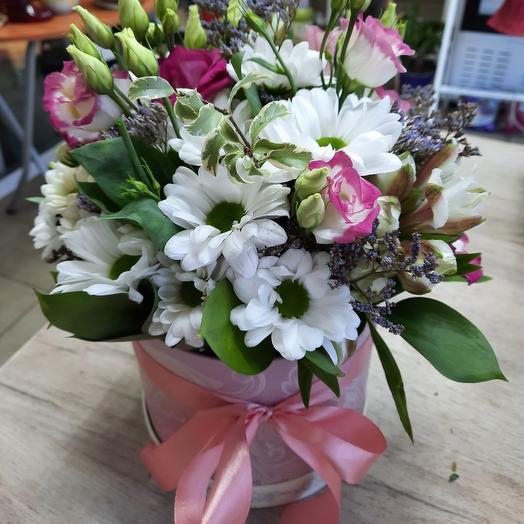 """Цветы в коробке""""весеений поцелуй"""""""