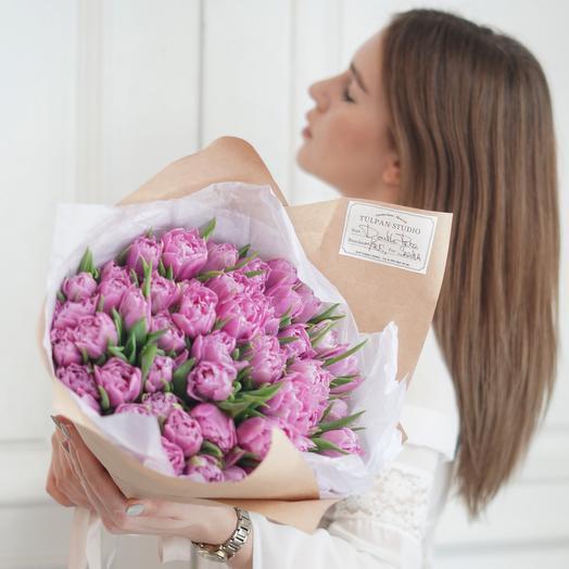 Пионовидный тюльпан фиолетовый Double Price (51 шт)