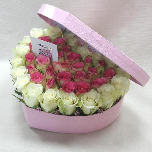 Flowers in a heart box