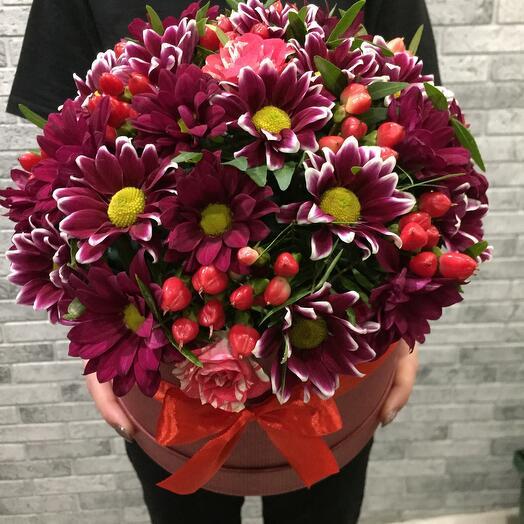 Цветы в коробке 06445