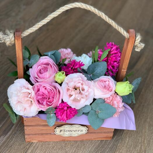 Ящик с цветами «Ягодный микс»