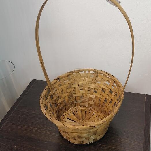 Корзина круглая D 20 см,шпон натуральный
