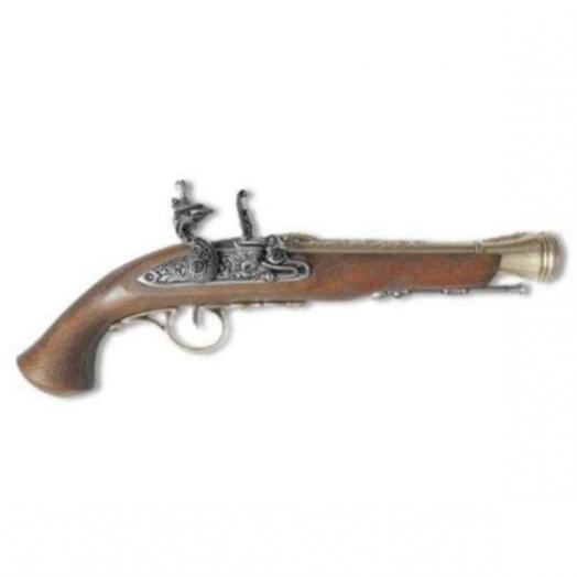 Пистоль системы флинтлок, 18 век (полноразмерная копия)