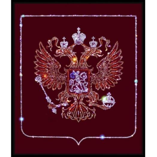 "Картина с кристаллами Swarovski ""Герб РФ"""