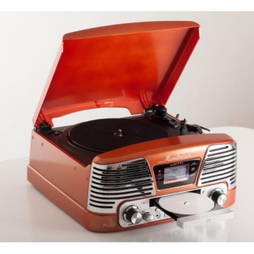 """Современный ретро-проигрыватель """"Montreux orange"""""""