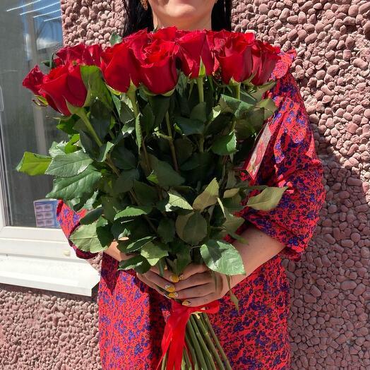Высокие 25 роз Эквадор