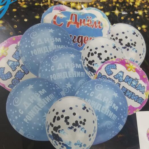 Фонтан из шаров С днём рождения