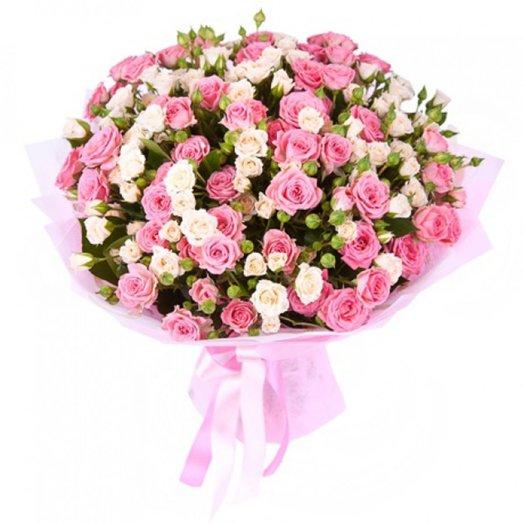 Букет из кустовых (спрей) роз: букеты цветов на заказ Flowwow