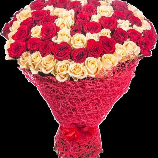 Букет 89 роз: букеты цветов на заказ Flowwow