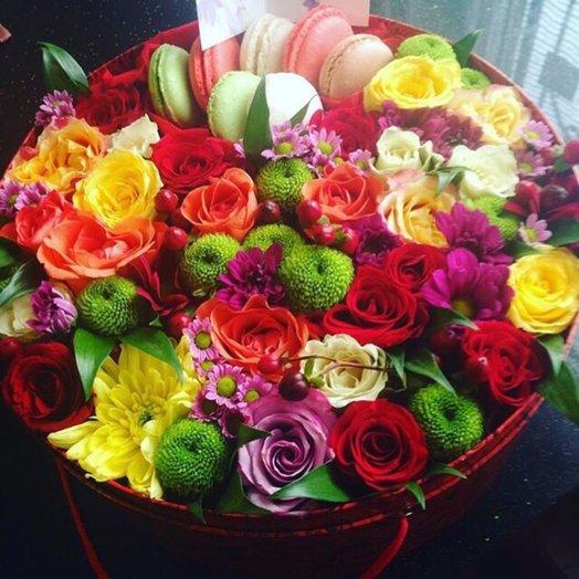 Коробочка Фейерверк: букеты цветов на заказ Flowwow