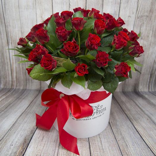 Шляпная коробка Эль Торро из 51 розы: букеты цветов на заказ Flowwow