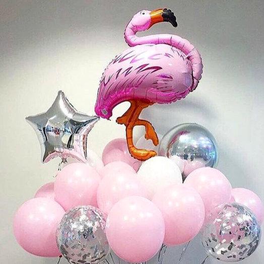 "Воздушное облако ""Фламинго"": букеты цветов на заказ Flowwow"