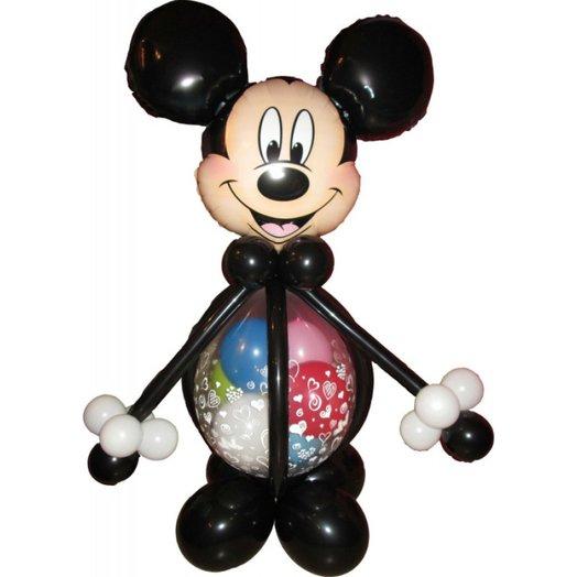 """Воздушная фигура """"Микки Маус цветными шариками"""": букеты цветов на заказ Flowwow"""