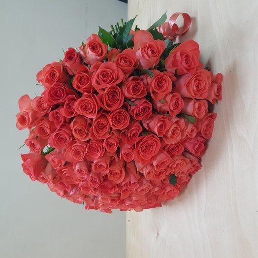 101 роза 50 см: букеты цветов на заказ Flowwow