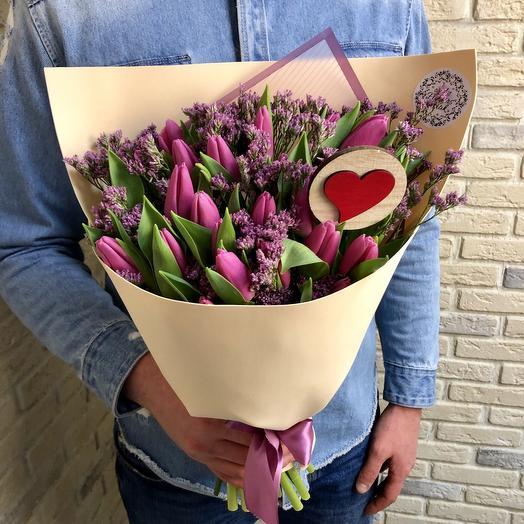 Сиреневые Тюльпаны: букеты цветов на заказ Flowwow