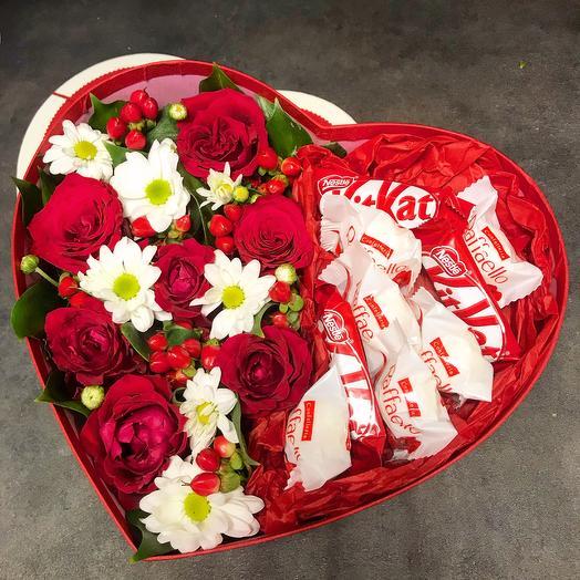 Валентинка ️: букеты цветов на заказ Flowwow