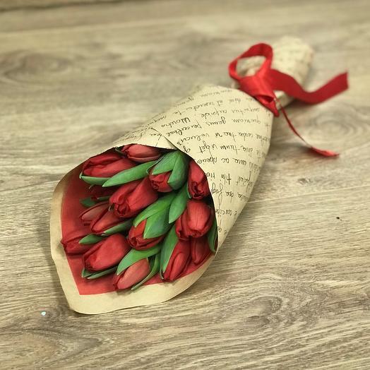 Букет тюльпанов N354: букеты цветов на заказ Flowwow