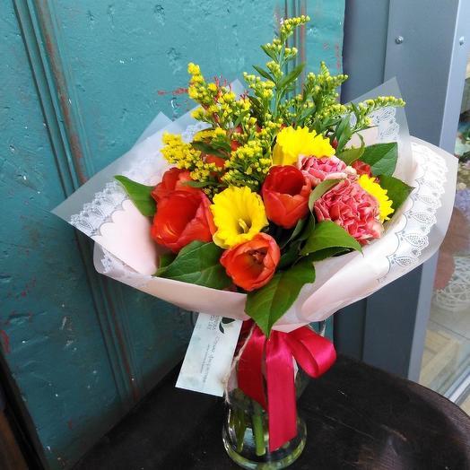 Солнышко весеннее: букеты цветов на заказ Flowwow