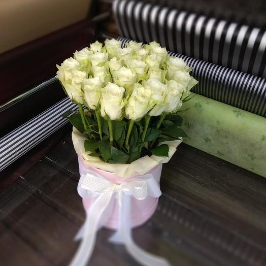 Коробка белая роза