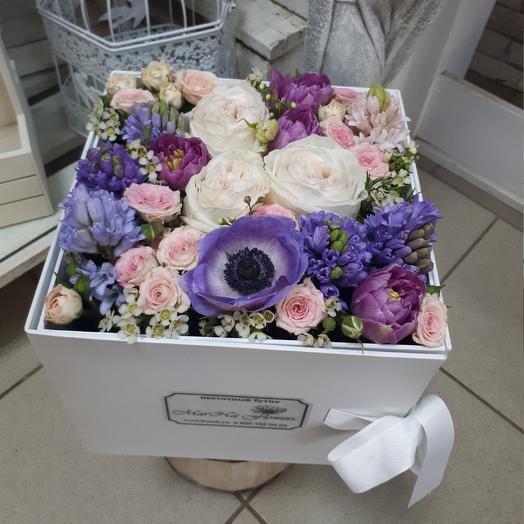 Коробка Сюрприз: букеты цветов на заказ Flowwow