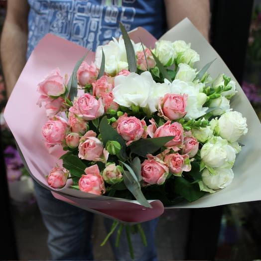 """Градиентный букет роз """"Музыка души"""""""