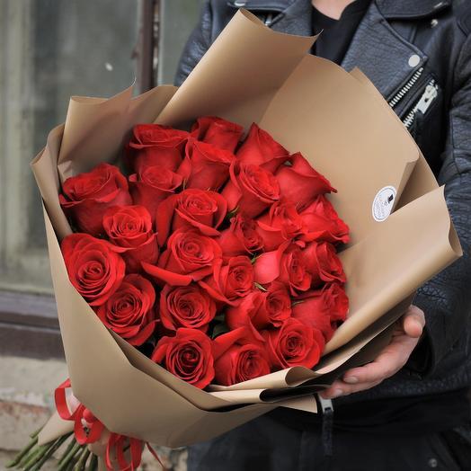 Высокие крупные розы 80см