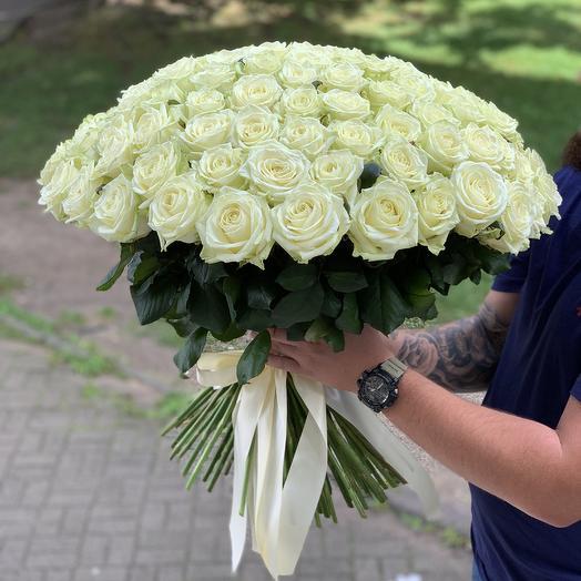101роза 70см: букеты цветов на заказ Flowwow