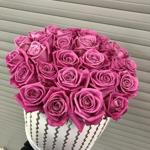 """Коробка цветов """"Фуше"""": букеты цветов на заказ Flowwow"""
