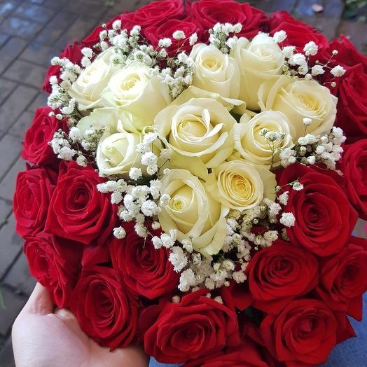 Сердце тебе: букеты цветов на заказ Flowwow