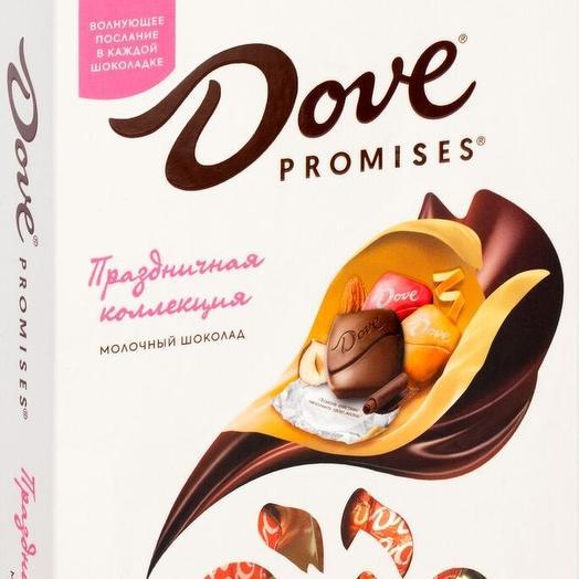 Коробочка конфет Dove