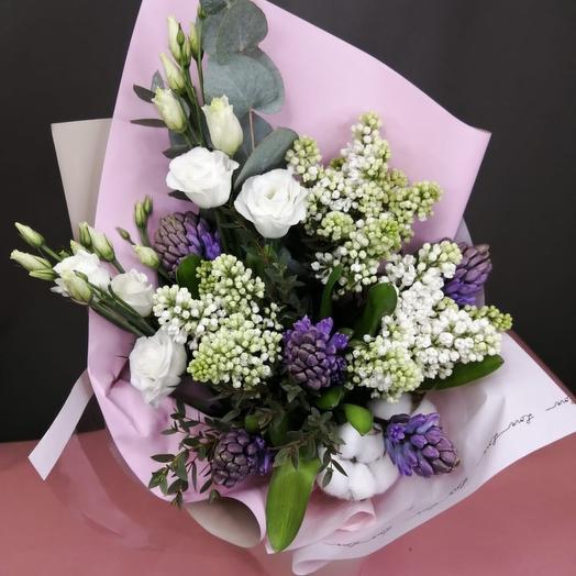 Букет из сирени , гиацинтов: букеты цветов на заказ Flowwow