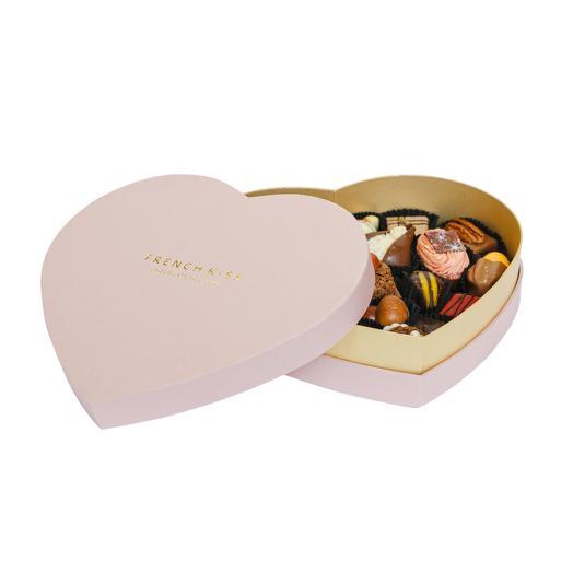 Набор Сладкая открытка Касабланка сердце розовое большое: букеты цветов на заказ Flowwow