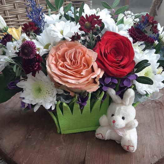 Композиция Моя зая: букеты цветов на заказ Flowwow