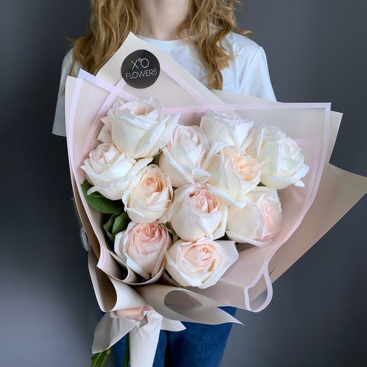 Букет из роз сорта White O Hara
