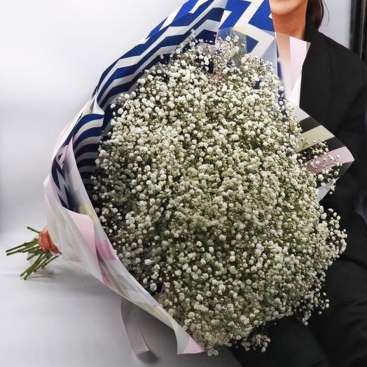Букет из 17 гипсофил: букеты цветов на заказ Flowwow