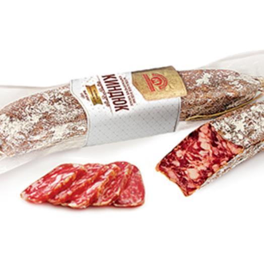 Киндюк колбаса сырокопченая рубленая, высший сорт, весовая ( 300-400 гр): букеты цветов на заказ Flowwow