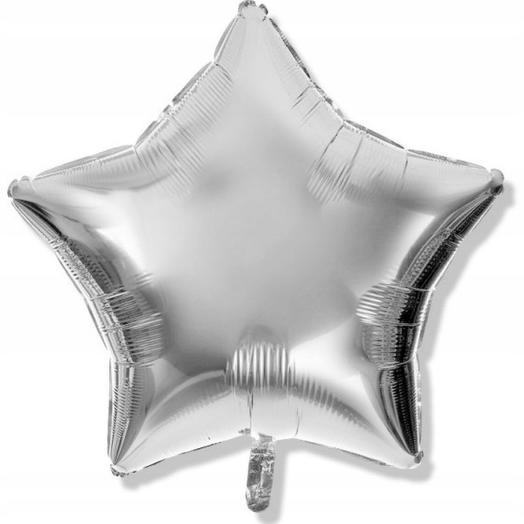 Шар серебряная звезда: букеты цветов на заказ Flowwow