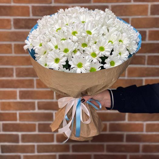 Букет из белых кустовых Хризантемы