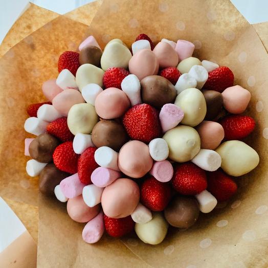 Кбукет из клубники в Шоколаде